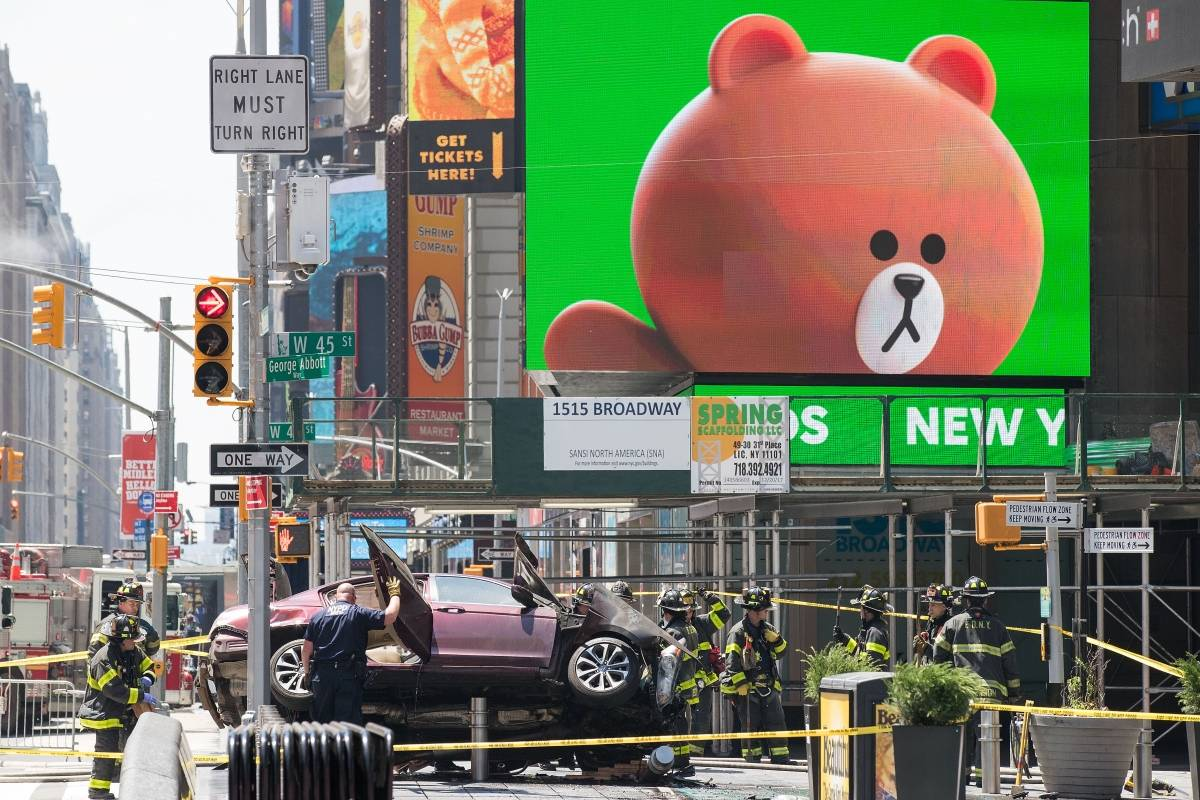 Incidente en Times Square Foto: Getty Images