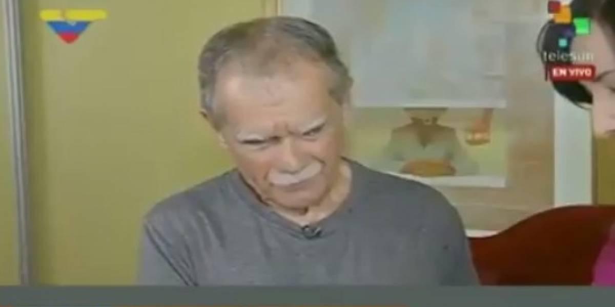 Oscar López habla con Nicolás Maduro