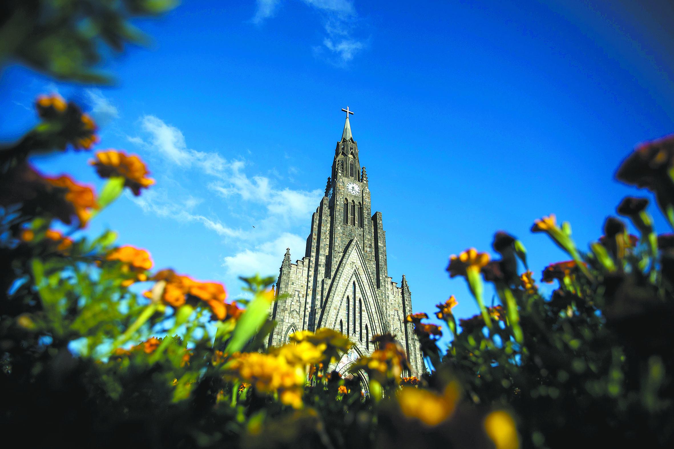 Catedral de Pedra de Nossa Senhora de Lourdes fica em Canela | Bruna Prado e Anassilvia Bortoluzzi