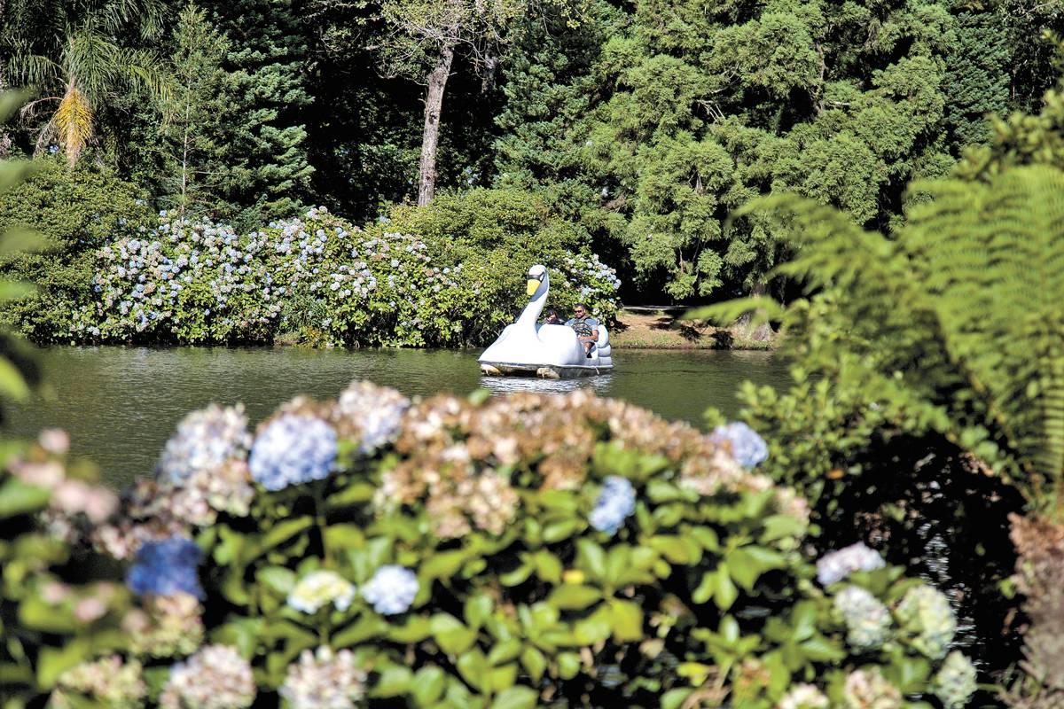 Lago Negro convida ao passeio em Gramado. Árvores são importadas de floresta alemã | Bruna Prado e Anassilvia Bortoluzzi