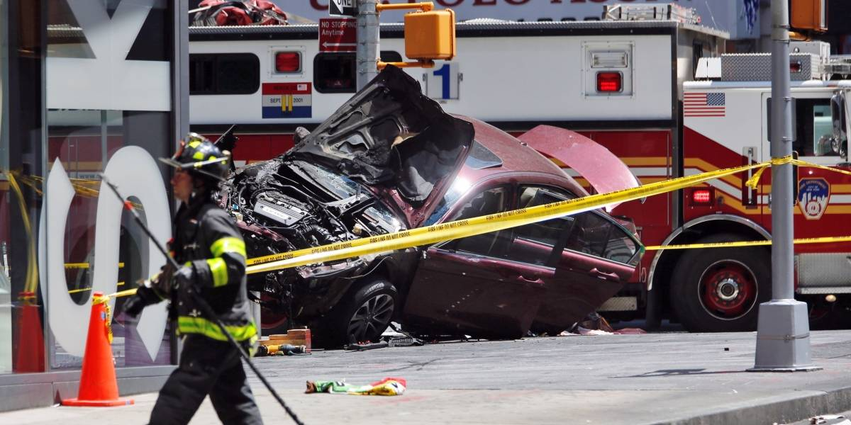 Times Square: Atropello múltiple deja 22 heridos y un muerto, conductor iba alcoholizado