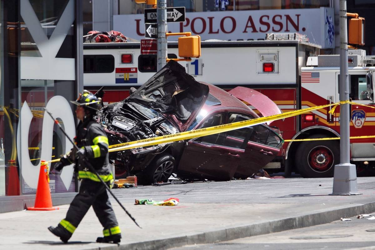 Incidente en Times Square Foto: AP