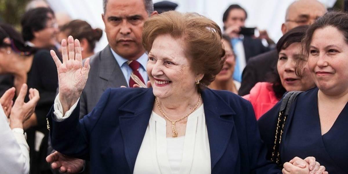Lucía Hiriart recibe pensión mensual de $3,1 millones por parte de Capredena