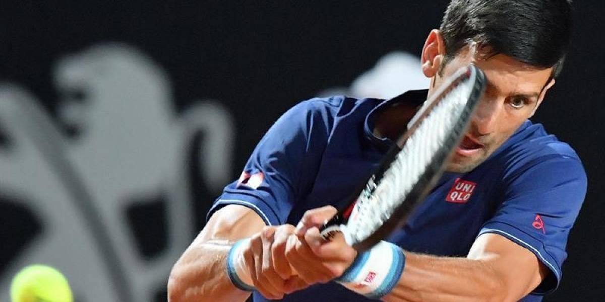 La lluvia obligó a suspender duelo entre Djokovic y Del Potro en el Masters de Roma