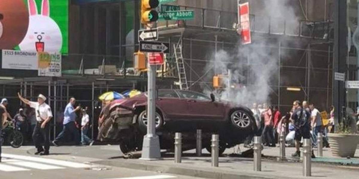 VIDEO. Cámaras de seguridad graban el momento exacto del incidente en el Times Square