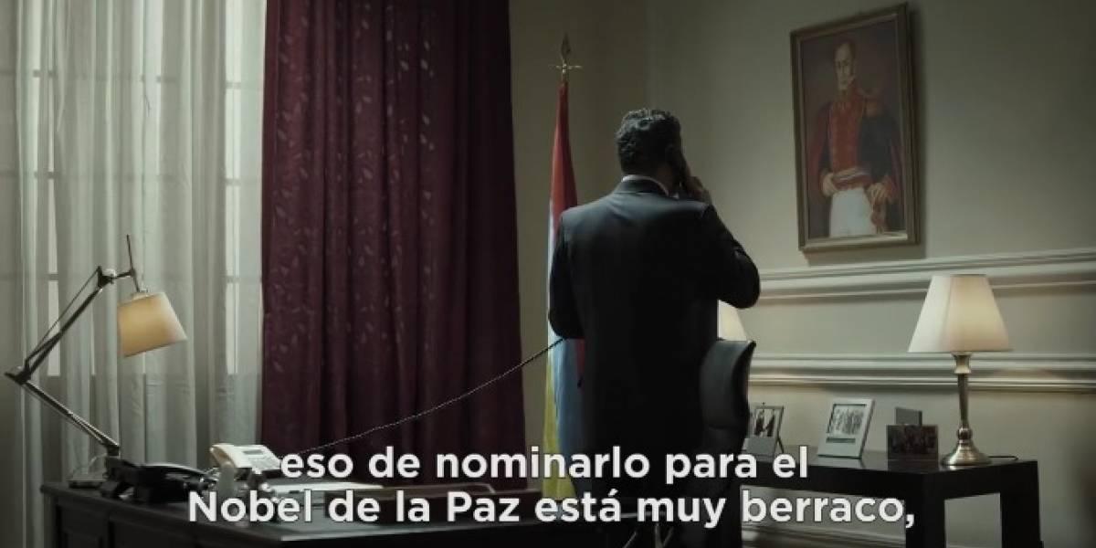 'House of Cards' se burla del presidente Santos con este comercial