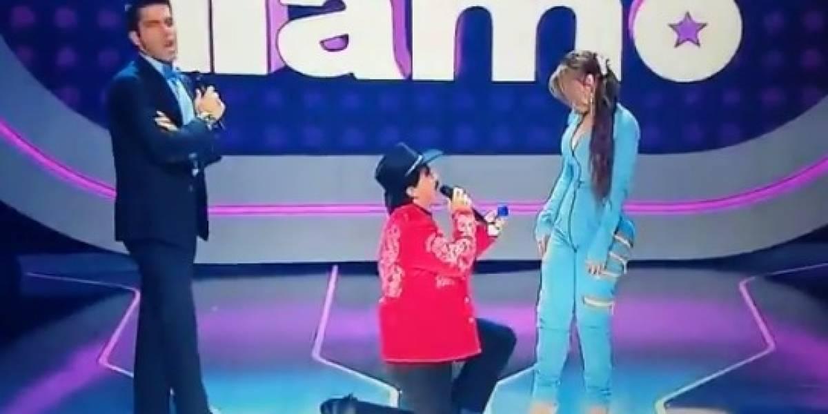 Joan Sebastian propuso matrimonio a su novia en 'Yo Me Llamo'