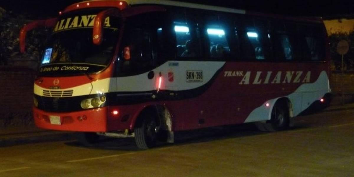 Atracaron bus intermunicipal que iba de Bogotá a Arauca