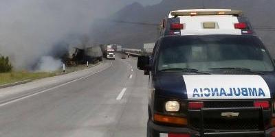 Muere uno tras choque en autopista SaltilloMonterrey