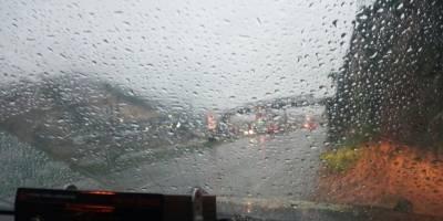 Se contabilizan al menos 14 colisiones vehiculares como consecuencia de la lluvia
