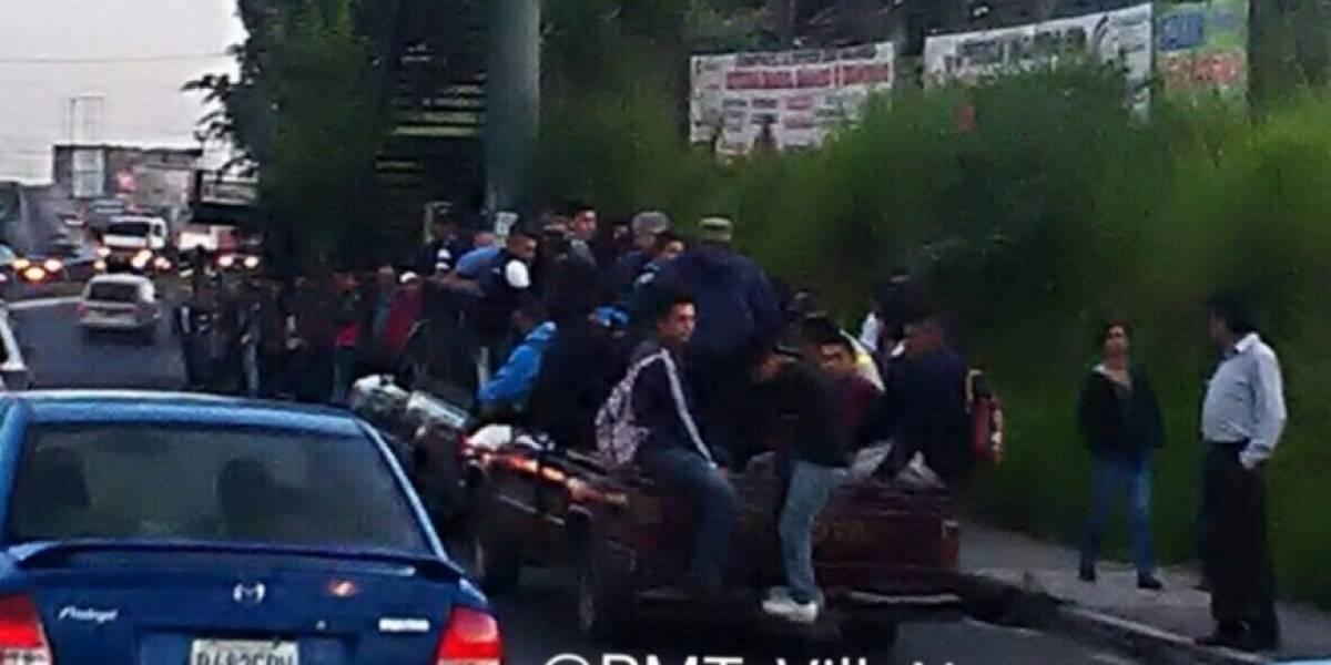 Suspenden servicio del Transurbano en rutas hacia el sur de la capital