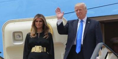 Trump llegó a Riad en su primera gira internacional