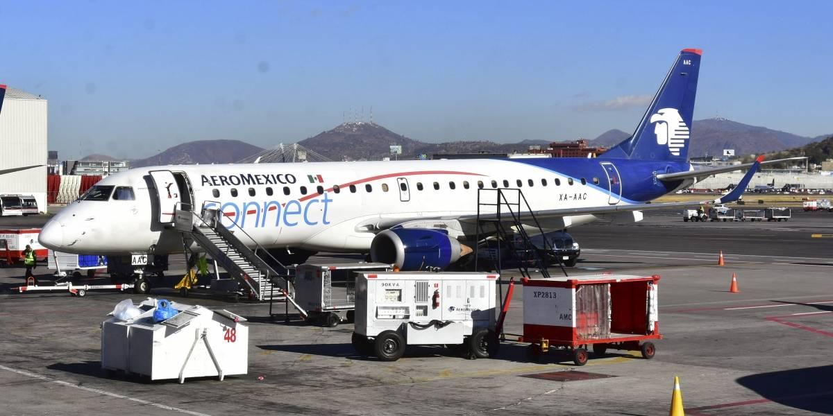 Avión de Aeromexico choca contra vehículo en aeropuerto de Los Ángeles
