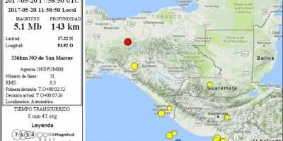 Dos temblores sacuden Guatemala este sábado