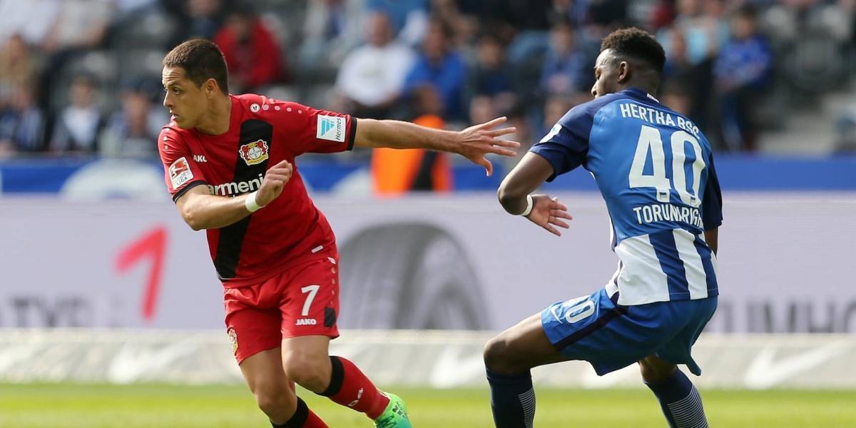 'Chicharito' anota y el Leverkusen golea en la Bundesliga
