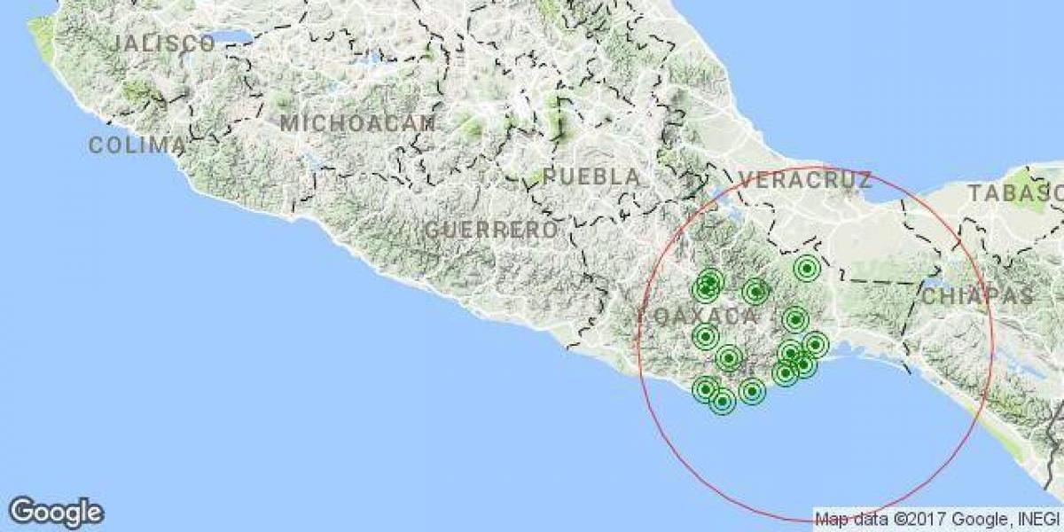 Sismo magnitud 5.7 con epicentro en Chiapas sacude el sureste mexicano
