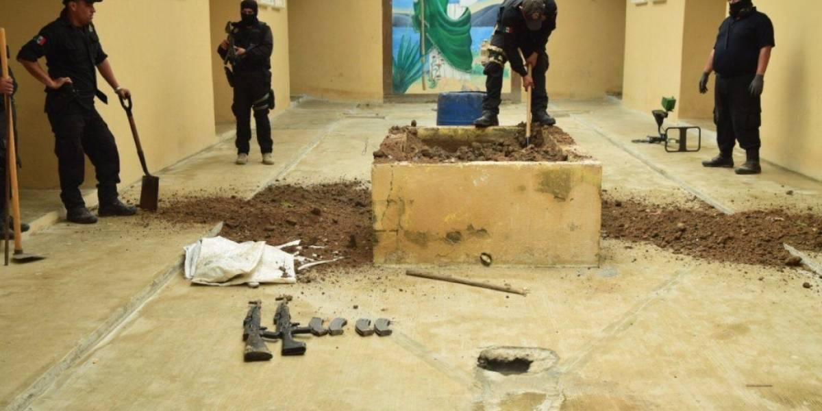 Encuentran AK47, cargadores y 90 cartuchos en penal de Reynosa