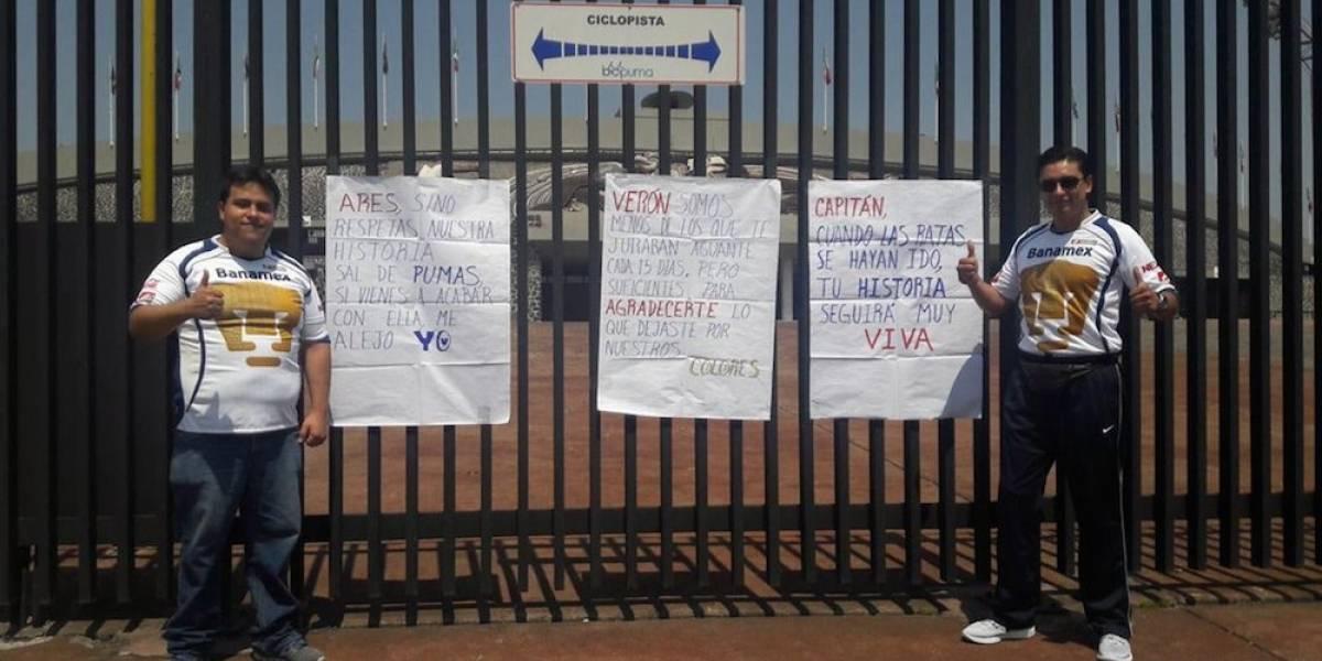 Fracasa marcha en protesta por salida de Darío Verón de Pumas
