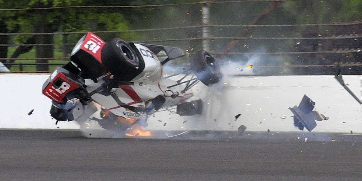Piloto Sebastien Bourdais sufre terrible accidente en las 500 millas de Indianápolis