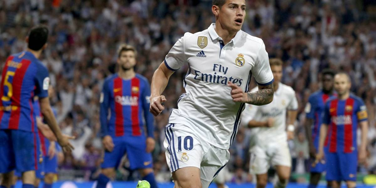 James y Real Madrid son campeón con el empate, Barcelona sueña con el milagro