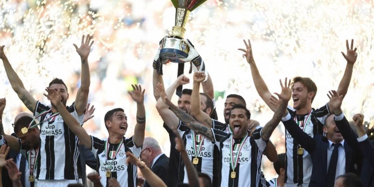 ¡La Juventus levanta el trofeo de la Serie A!