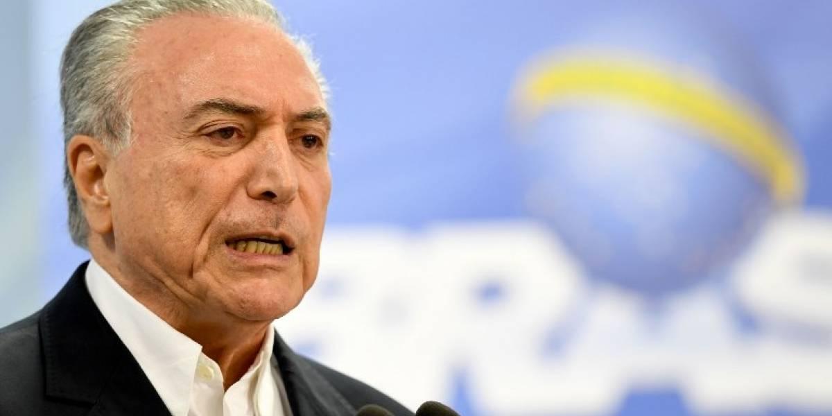 Temer toma un respiro en crisis por corrupción en Brasil