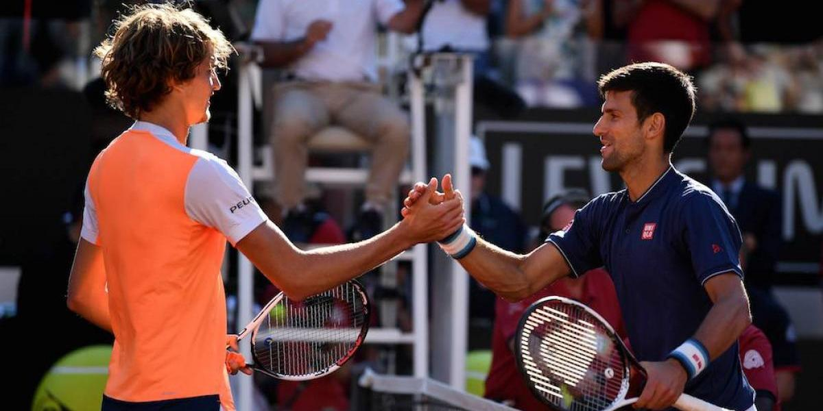 Novak Djokovic cae en la gran final de Italia ante Alexander Zverev