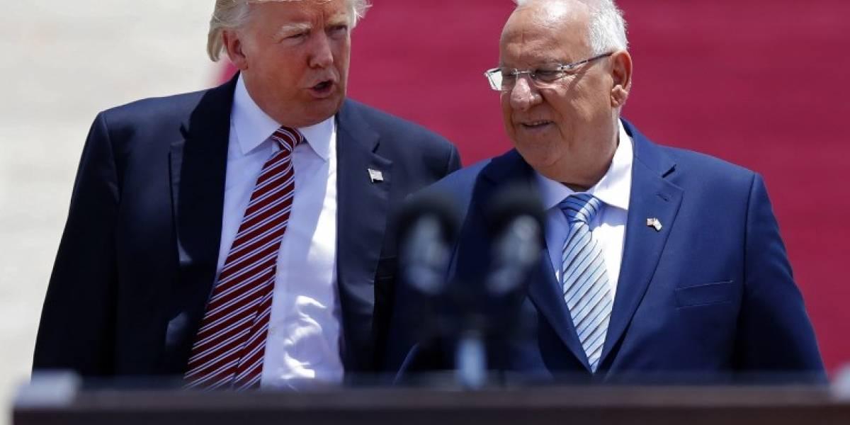 """Donald Trump inicia viaje a Israel y Palestina con la meta de avanzar """"hacia la paz"""""""