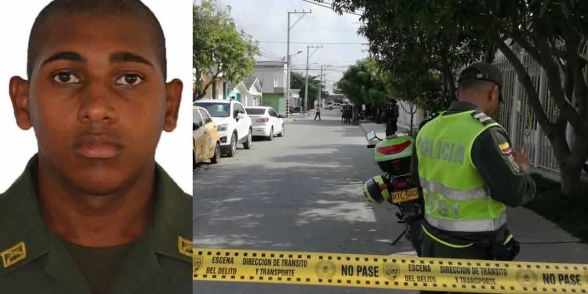 Hombres en moto asesinan a auxiliar de la policía en Barranquilla