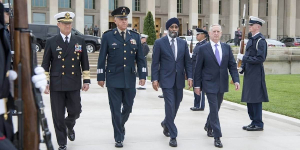 Titulares de Sedena y Semar se reúnen con sus homólogos en el Pentágono