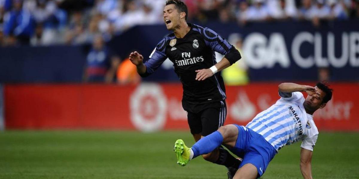 VIDEO: Jugador del Málaga levanta sospechas por jugadas dudosas ante Real Madrid