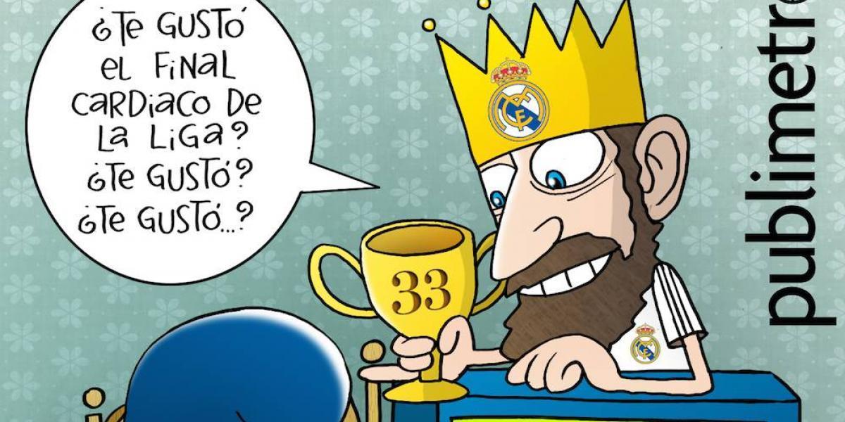 Real Madrid, campeón de España; el cartón del día