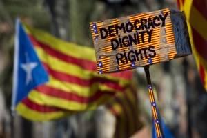 Protestas independentistas en Cataluña