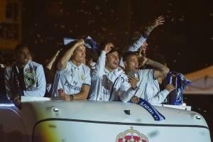 VIDEO: Jugadores del Real Madrid se acuerdan de Piqué en plena celebración