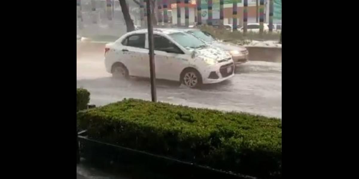 Fuertes lluvias causan inundaciones en distintos puntos de la CDMX