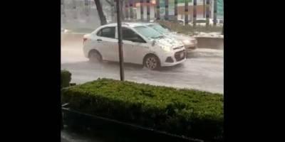 Inundación y granizada en Polanco y Lomas de Chapultepec