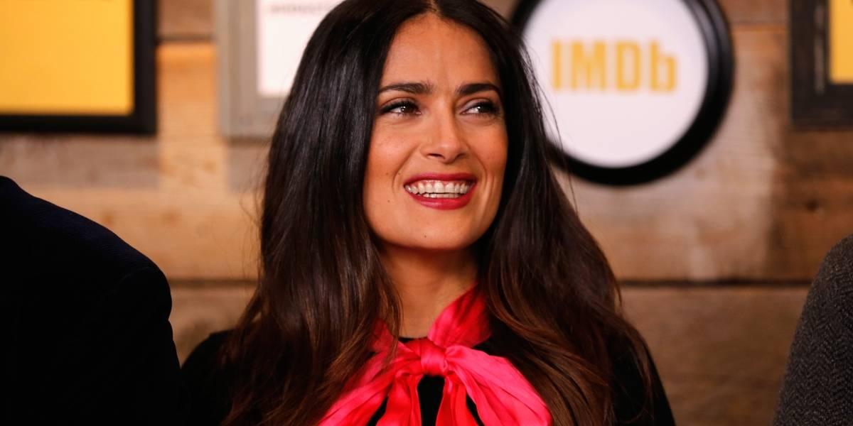 El radical cambio de look con el que Salma Hayek llegó a Cannes