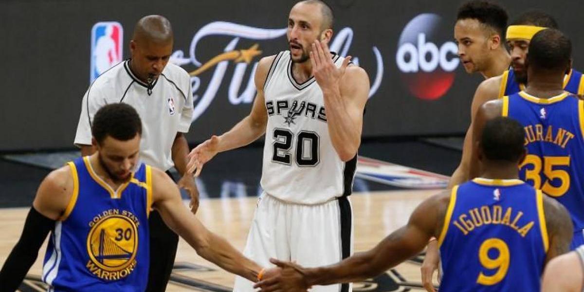"""Golden State arrasa en la """"despedida"""" de Manu Ginóbili y llega invicto a la final de la NBA"""