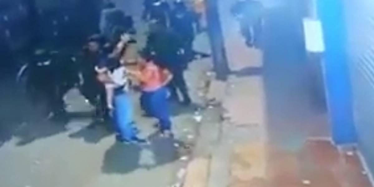 Esmad agredió a una pareja y a su pequeña hija en Buenaventura