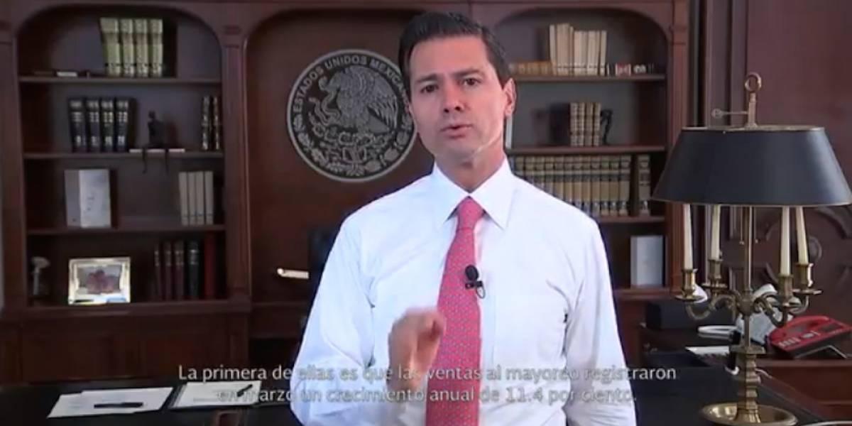 Alza en indicadores económicos refleja confianza del mundo en México: Peña Nieto