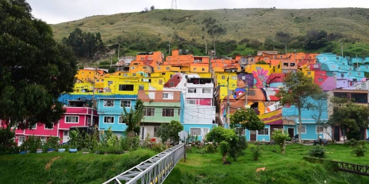 Puentes tiene su río de la vida, el mural más grande en Bogotá
