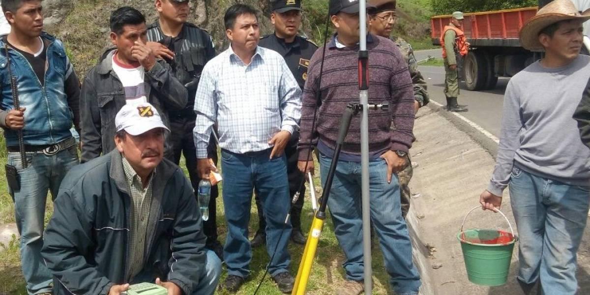 Autoridades inician medición para establecer los límites territoriales entre Ixchiguán y Tajumulco