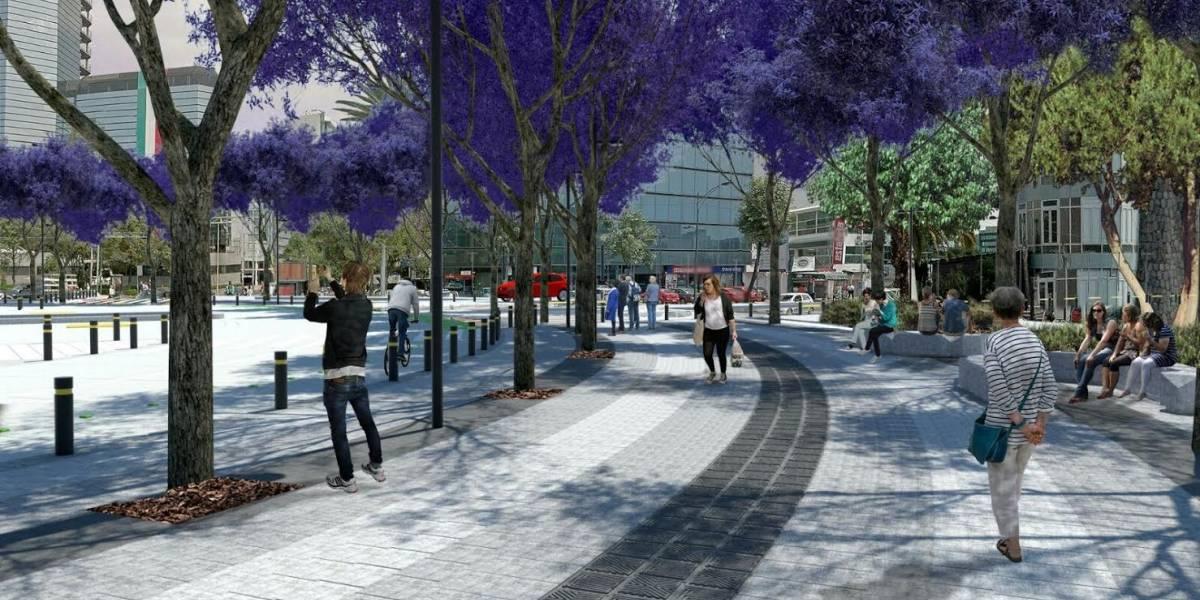 Avanza parque lineal en Insurgentes y Circuito Interior