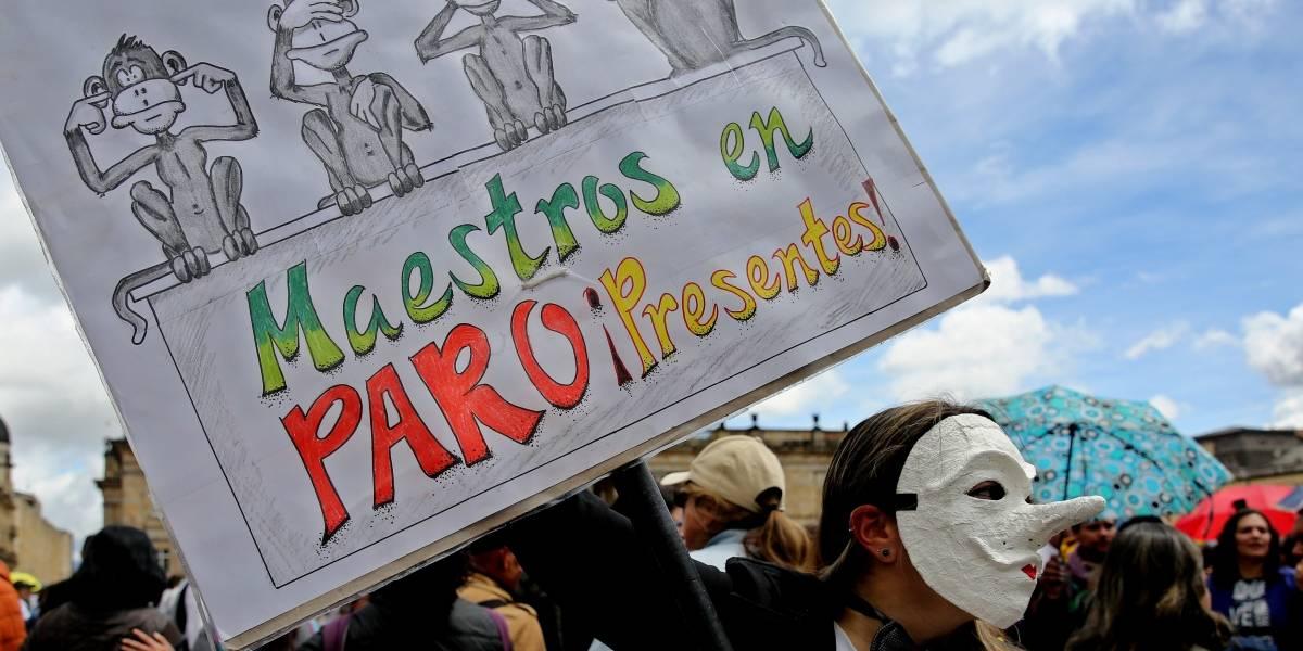 Maestros protestaron en diferentes ciudades para reclamar mejoras salariales
