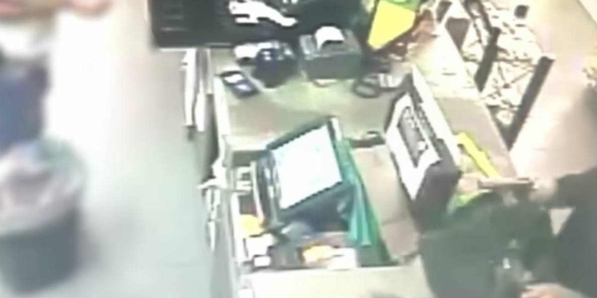 En video asalto a gasolinera de Bayamón
