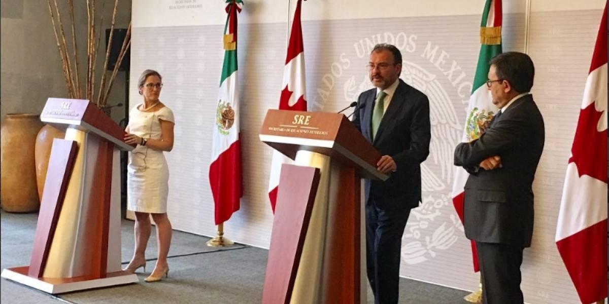 México y Canadá defienden al TLCAN como un acuerdo trilateral