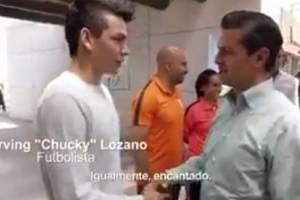 VIDEO: EPN le pregunta al 'Chucky' Lozano acerca de su futuro
