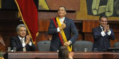 Comienza la ceremonia de traspaso de mando en Ecuador