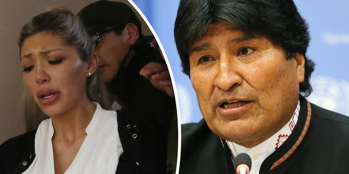 Sentencian a modelo, ex novia de Evo Morales, a 10 años de cárcel