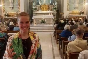 El emocionante momento que vivió Javiera Suárez cuando llegó a agradecer a la Virgen de los Milagros